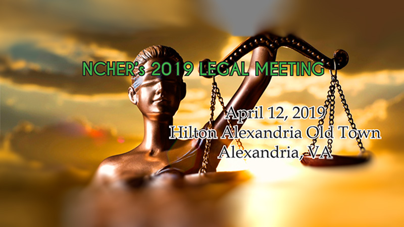2019 NCHER Spring Legal Meeting Banner