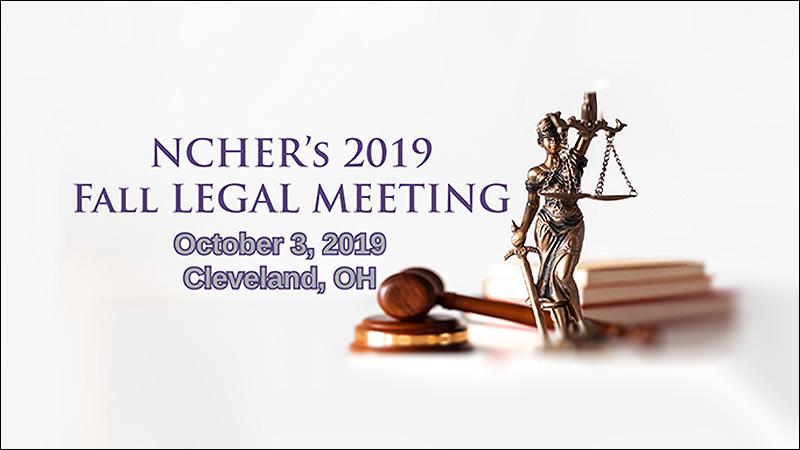 2019 NCHER Fall Legal Meeting Logo