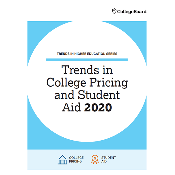 Trends in College Pricing and Student aid 2020 Report Cover -The College Board